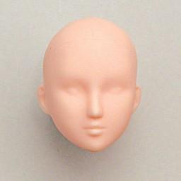 Голова девушки классическая, натуральный тон, модель 1