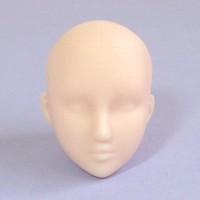 Голова девушки классическая, белый тон, модель 1