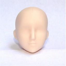 Голова девушки классическая, белый тон, модель 2