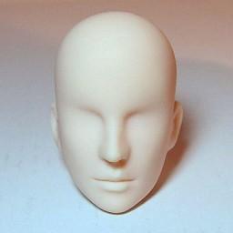 Голова мужская, модель2, белый тон
