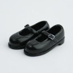 Туфельки без каблука, черные