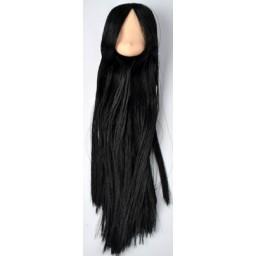 Голова аниме, натуральный тон , черные волосы
