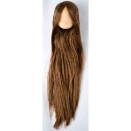 Голова аниме, натуральный тон , коричневые волосы