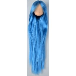 Голова аниме, натуральный тон голубые волосы