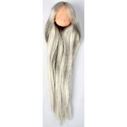 Голова аниме, натуральный тон серебряные волосы