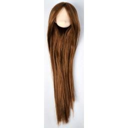 Голова аниме, белый тон , коричневые волосы.