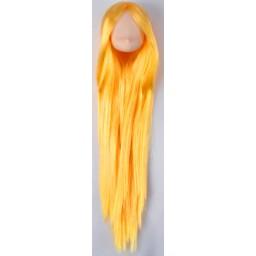 Голова аниме, белый тон, цвет волос золотой блондин