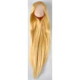 Голова аниме, белый тон с золотыми волосами