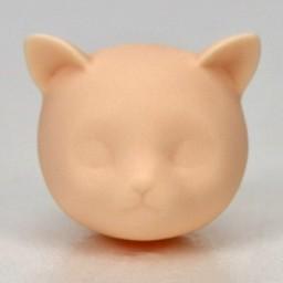 Головка Нэко - котенок, белый тон