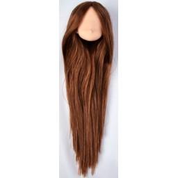 Большая аниме головка, натуральный тон, коричневые волосы