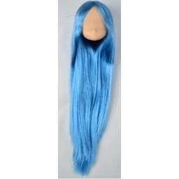 Большая аниме головка, натуральный тон, голубые волосы