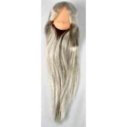 Большая аниме головка, натуральный тон, серебряные волосы