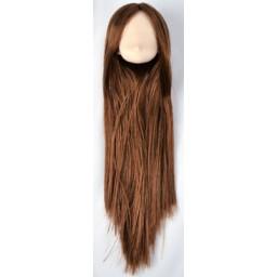 Большая аниме головка, белый тон, коричневые волосы