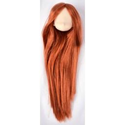 Большая аниме головка, белый тон, цвет волос красное дерево