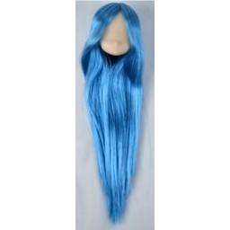 Большая аниме головка, белый тон, голубые волосы