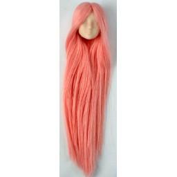 Голова девушки классическая, белый тон, модель 1, розовые волосы
