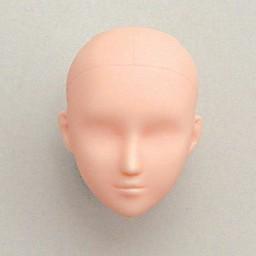 Голова девушки классическая, натуральный тон, модель 2