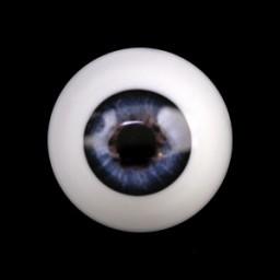 Глаза Кобальт полусфера 8мм.