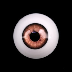 Глаза ореховые, полусфера 12 мм