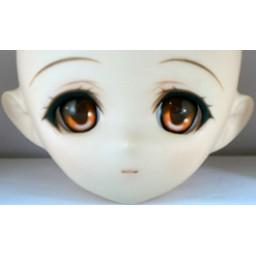 Аниме глазки 12 мм, оранжевые.