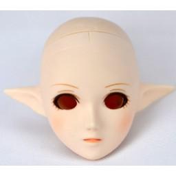 Голова эльфа, белый тон, с росписью