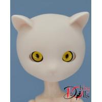 Акриловые кошачьи глазки желтые 10 мм