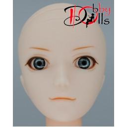 Глазки акриловые, серо-бирюзовые 6 мм