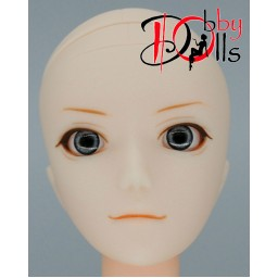 Глазки акриловые, серые 6 мм