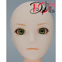 Глазки акриловые, зеленые 6 мм