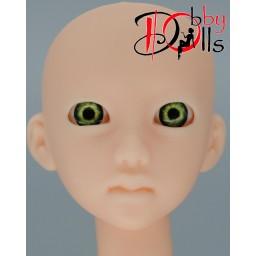 Глазки акриловые, зеленые, яркие 7 мм