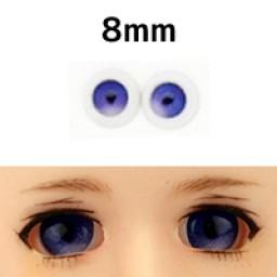 """Глазки """"конфетки"""", синие, полусферы 8 мм"""
