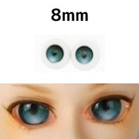 """Глазки """"конфетки"""", зеленые, полусферы 8 мм"""