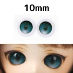 """Глазки """"конфетки"""" зеленые, полусферы 10 мм"""