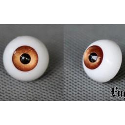 Глаза акриловые для Обитсу, полусфера, орех металлик 10 мм