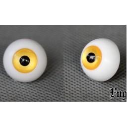 Глаза акриловые для Обитсу, полусфера, желтый металлик 10 мм