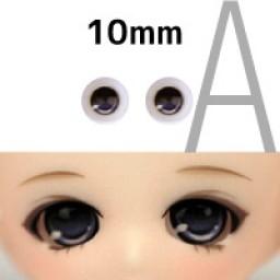 """Аниме глазки тип """"А"""" , серо-голубые 10 мм"""