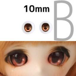 Аниме глазки 10 мм, оранжевые.