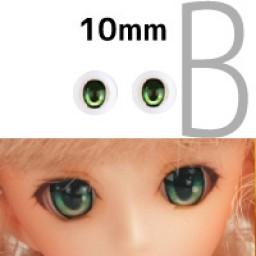 Аниме глазки 10 мм, зеленые