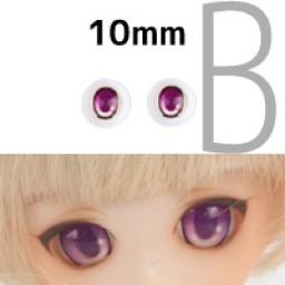 Аниме глазки 10 мм, фиолетовые.
