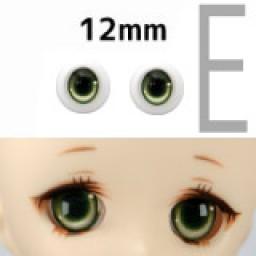 """Аниме глазки тип """"Е"""" , Зеленые 12 мм"""