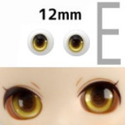 """Аниме глазки тип """"E"""" 12 мм, желтые."""