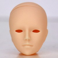 Голова Хиро белый тон, модель с открытыми глазами
