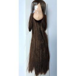 Большая аниме головка, натуральный тон, цвет волос темно-коричневый