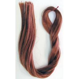 Кукольные волосы-Саран. Цвет красное дерево.