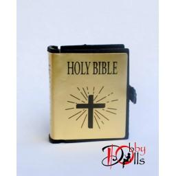 Библия для кукол формата 1 к 6ти, золотой переплет