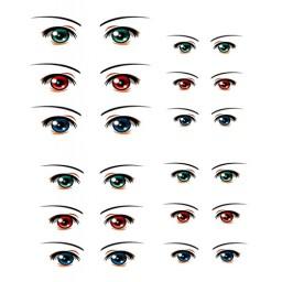 Наклейки глазки, модель 24