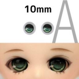 """Аниме глазки тип """"А"""" , зеленые 10 мм."""