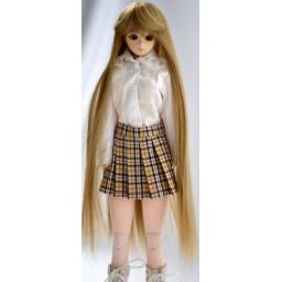 Парик с челкой термостойкий, натуральный блондин 4 inch