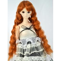 Парик длинный, волнистые волосы, рыжий. 3,5 inch