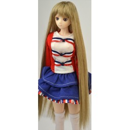 Парик с челкой длинный, натуральный блондин 3,5 inch